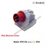 ปลั๊กตัวผู้ติดลอย HTB 524 , (3P+E) 32A ,380-415V ~,IP44 ,DAKO