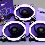 AIGO R3 ชุดพัดลมไฟ RGB 3 ตัว