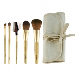 Odbo od811 Brush Set 5 Piece โอดีบีโอ แปรงชุด 5 ชิ้น + กระเป๋า (ด้ามทอง)