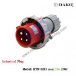 HTN 0241 ปลั๊กตัวผู้กลางทางกันน้ำ (3P+E) 32A IP67