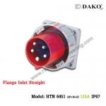 ปลั๊กตัวผู้ติดผนังฝังตรงกันน้ำ HTN 6451 (5P) 125A ,380-415V ~, IP67 ,DAKO