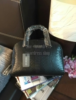 NEW Arrival! GUESS CROC LEATHER BOWLING BAG