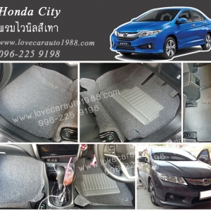 พรมปูพื่้นรถยนต์ Honda City ไวนิลสีเทา