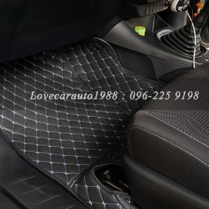 พรม6D Toyota Hilux Revo Cab ดำฟ้า