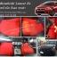พรมปูพื้นรถยนต์ Mitsubishi Lancer Ex ไวนิลสีแดง ขอบดำ