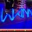 ป้ายWANNA-ONE ตัวอักษรแนววินเทจ สีน้ำเงินสวยๆ