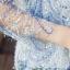 เสื้อผ้าลูกไม้ขนฟูมุ้งมิ้ง โทนสีเทาและเดินเส้นด้วยด้ายสีน้ำเงินตามแบบ แขนยาว ตัวผ้าแต่งด้วยดิ้นสีเงิน thumbnail 9