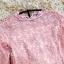 เดรสผ้าลูกไม้เนื้อดีสีชมพูโอรส ทรงตรง เดรสเข้ารูปช่วงเอว ชายกระโปรงทรงระบายเล็กๆ thumbnail 13