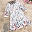 เดรสผ้าคอตตอนผสม spandex เนื้อผ้าสวมใส่สบายค่ะ พื้นสีขาว พิมพ์ลายดอกไม้หลากสี thumbnail 16