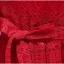 เดรสผ้าลูกไม้ถักสีแดง แขนยาว เข้ารูปช่วงเอว กระโปรงทรงเอ เย็บจับจีบรอบเอว มีกระเป๋าที่กระโปรง thumbnail 8