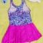 ชุดว่ายน้ำเด็กผู้หญิงลายกราฟิก กระโปรงสีชมพู สวย หวาน น่ารัก thumbnail 2