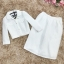 set เสื้อและกระโปรงสีขาว thumbnail 9