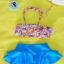 ชุดว่ายน้ำเด็ก ลายกราฟฟิก กระโปรงสีฟ้า น่ารักสดใส แยกเป็น 2 ชิ้น thumbnail 1