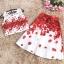 set เสื้อและกระโปรงพิมพ์ลายดอกกุหลาบสีแดง สวยมากๆๆค่ะ thumbnail 11