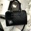นใหม่ล่าสุด ขนาด มินิ หนังแกะสวยมากค่ะ สีเข้าใหม่ >> สี classy black รุ่น KEEP quited leather Pillow bag thumbnail 3