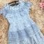 เดรสผ้าลูกไม้สีฟ้า เย็บทอผสมกับผ้าถักโครเชต์ที่ช่วงไหล่ และกระโปรง thumbnail 16