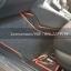 พรมดักฝุ่น Toyota yaris Ativ ไวนิลดำขอบแดง