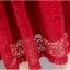 เดรสผ้าลูกไม้ถักสีแดง แขนยาว เข้ารูปช่วงเอว กระโปรงทรงเอ เย็บจับจีบรอบเอว มีกระเป๋าที่กระโปรง thumbnail 11
