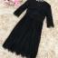 เดรสผ้าลูกไม้เนื้อดี เนื้อนิ่มมากๆๆสีดำ แขนยาวสามส่วน คอวี รอบคอเสื้อและเอว แต่งด้วยผ้าถักโครเชต์สีดำ thumbnail 23