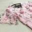 เดรสผ้าลูกไม้เนื้อนิ่มชนิดยืดหยุ่นได้สีชมพู คอวี เย็บซ้อนชุดด้านนอก ด้วยผ้าไหมแก้ว organza ตัวยาว thumbnail 13