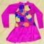 ชุดว่ายน้ำเด็กผู้หญิงสีชมพูบานเย็น ลายน่ารัก แขนยาว ข้างในเป็นกางเกงขาสั้น ด้านนอกเป็นกระโปรง มีซิบด้านหน้า thumbnail 1