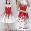 set เสื้อและกระโปรงพิมพ์ลายดอกกุหลาบสีแดง สวยมากๆๆค่ะ thumbnail 9