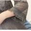 เดรสผ้าลูกไม้เนื้อดีสีเทา แขนยาวห้าส่วน รอบคอเสื้อ เอว และปลายแขนเสื้อ แต่งด้วยผ้าถักโครเชต์ชายระบาย thumbnail 11