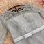 เดรสออกงานสุดหรู สีเทา ตัวเสื้อผ้าโปร่งแต่งด้วยดิ้นเล็กๆๆสีเงิน แขนยาว 3 ส่วน แต่งโบว์ที่เอว thumbnail 10