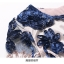 เดรสผ้าปักริบบิ้นเป็นรูปดอกไม้ โทนสีน้ำเงิน และสีชมพูกะปิ ซับในด้วยผ้าไหม เนื้อเงาๆๆ สีชมพูกะปิ thumbnail 16