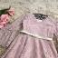 เดรสผ้าลูกไม้เนื้ัอดีสีชมพู ผ้าเนื้อนิ่ม คอวี แขนยาว ปลายแขนเสื้อทรงกระดิ่ง thumbnail 10
