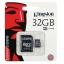 32 GB MICRO SD CARD KINGSTON CLASS 10 thumbnail 1