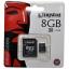 8 GB MICRO SD CARD KINGSTON CLASS 4 thumbnail 1