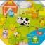 กระดานไม้จิ๊กซอว์สัตว์ในฟาร์ม thumbnail 6