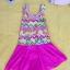 ชุดว่ายน้ำเด็กผู้หญิงลายผีเสื้อ กระโปรงสีชมพู น่ารัก thumbnail 1