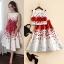 set เสื้อและกระโปรงพิมพ์ลายดอกกุหลาบสีแดง สวยมากๆๆค่ะ thumbnail 4