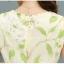 เดรสยาว ผ้าไหมแก้ว organza สีครีม แขนกุด พิมพ์ลายดอกไม้สีขาว เดรสเข้ารูปช่วงเอว thumbnail 16