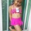 ชุดว่ายน้ำเด็ก สีชมพูลายจุด น่ารักสดใส แยกเป็น 2 ชิ้น thumbnail 1