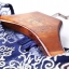 เดรสผ้าโพลีเอสเตอร์สีน้ำเงิน แต่งไหล่ หน้าอก แขนเสื้อ ด้วยผ้ามุ้งปักด้ายสีเหลือบทอง thumbnail 11