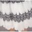 เดรสผ้าลูกไม้ปักเนื้อดี แขนกุด ปักลายสีดำสลับขาว ตามแบบ เดรสเข้ารูปช่วงเอว กระโปรงทรงเอ thumbnail 16