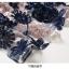 เดรสผ้าปักริบบิ้นเป็นรูปดอกไม้ โทนสีน้ำเงิน และสีชมพูกะปิ ซับในด้วยผ้าไหม เนื้อเงาๆๆ สีชมพูกะปิ thumbnail 13