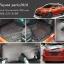 พรม 6D Toyota yaris สีดำด้ายแดง