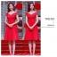 เดรสสีแดง ผ้าโพลีเอสเตอร์ผสม ไหล่ป้าน ปิดช่วงต้นแขน thumbnail 3