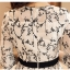 เดรสผ้าชีฟองเนื้อดีสีขาว ปักด้ายลายใบไม้เล็กๆๆสีดำ และมีผ้าถักรูปดอกไม้เล็กๆๆสีขาวลอยออกมาจากตัวชุด thumbnail 14