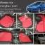 ยางปูพื้นรถยนต์ Honda City ลายธนูสีแดง ขอบดำ