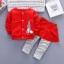 ชุดเด็กน่ารัก ชุดกันหนาว เสื้อแขนยาว ลายกระต่าย สีแดง พร้อมกางเกงกระโปรง thumbnail 1
