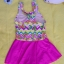 ชุดว่ายน้ำเด็กผู้หญิงลายผีเสื้อ กระโปรงสีชมพู น่ารัก thumbnail 2
