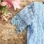 เดรสตัวเสื้อผ้าลูกไม้เนื้อนิ่มสีฟ้า แขนสั้น ปลายแขนเสื้อแต่งด้วยผ้าถักโครเชต์ รูปดอกไม้ thumbnail 20