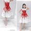 set เสื้อและกระโปรงพิมพ์ลายดอกกุหลาบสีแดง สวยมากๆๆค่ะ thumbnail 5