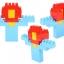 บล็อคตัวต่อ Block Play&Learn รุ่นถุงใหญ่ 320 ชิ้น thumbnail 17