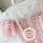 เดรสผ้าลูกไม้เนื้อดี นิ่ม สีชมพู คอเสื้อเป็นผ้าโปร่งซีทรูสีขาว แต่งด้วยดอกไม้ถัก thumbnail 10